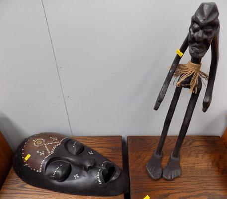 African mask & figurine