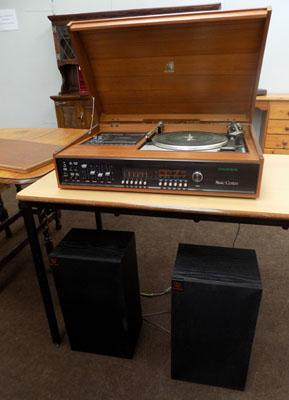 Dynatron music system & Wharfedale speakers