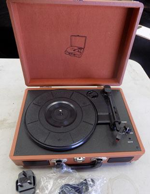 Suitcase portable record player w/o