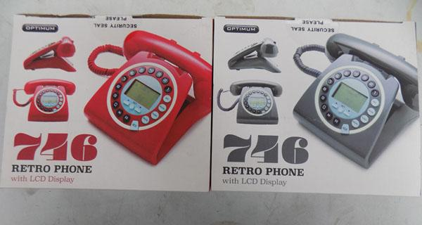 2x New boxed retro land line phones with caller ID