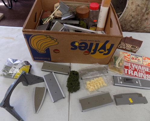 Box of Railway trackside items