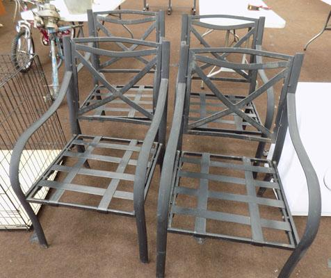 Set of 4 outside metal chairs