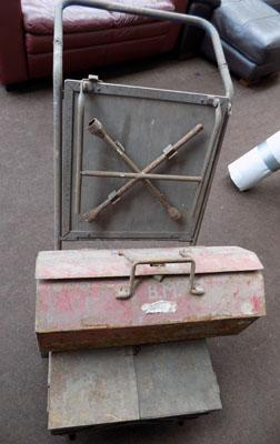 Tool trolley and box