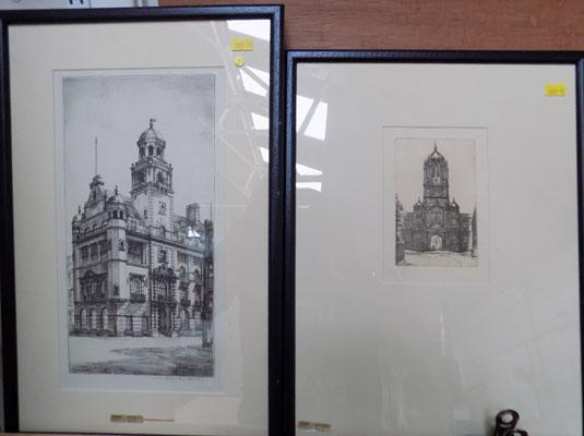 2x Framed lithographs-1 Oxford