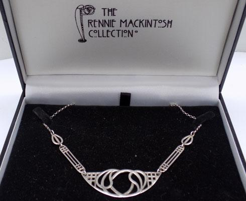 'The Rennie Mackintosh Collection' silver necklace
