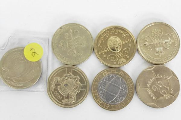 Selection of old £2 coins