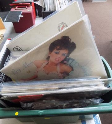 Case of collectable records inc Queen, Who, Pink Floyd
