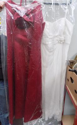 2x Ladies evening gowns- 1 size 18
