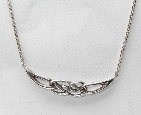 Celtic silver necklace