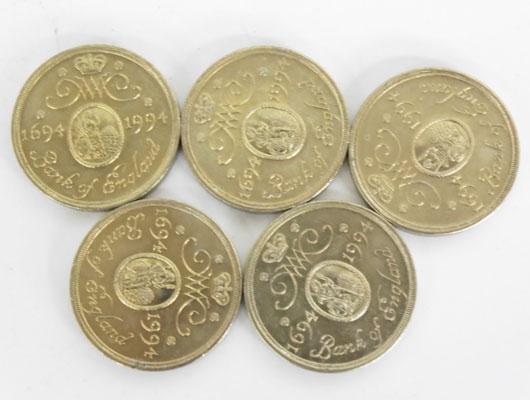 Selection of £2 coins-Bank of England