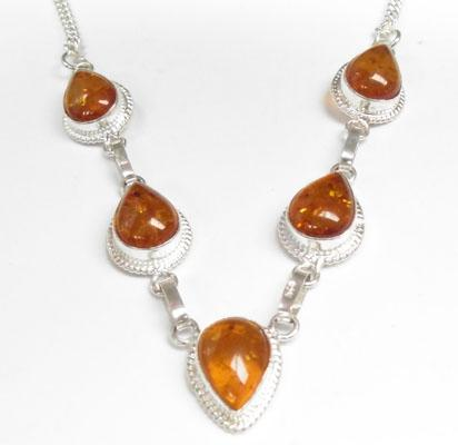 925 Silver Amber necklace