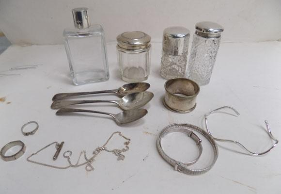 Collection of hallmarked silver items
