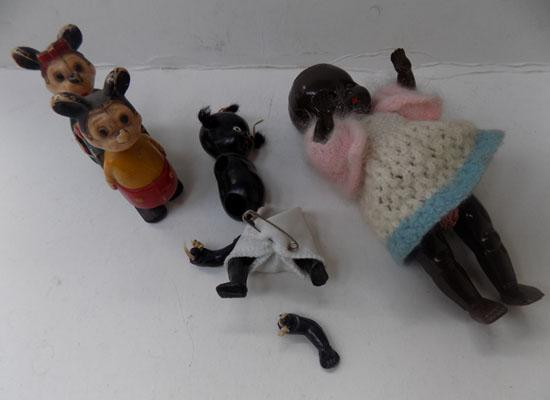 Vintage dolls & Mickey Mouse toys