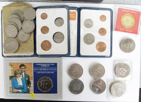 Selection of collectable coins
