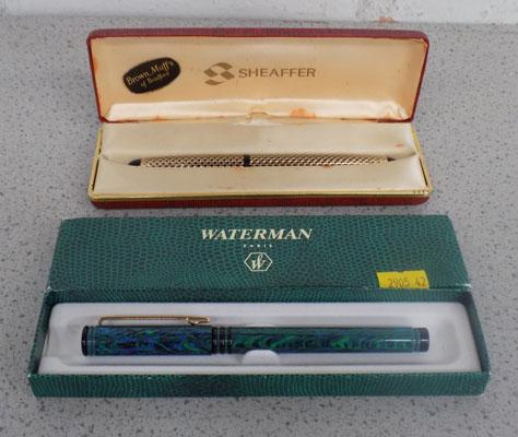 Boxed Sheaffer & 1 other fountain pens
