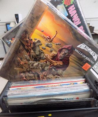 Case of Lp's Rock & Indi, Helloween, New Order