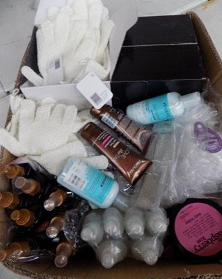 Box of new beauty products