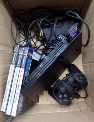 PS2 slim with 2 controllers & games-gta