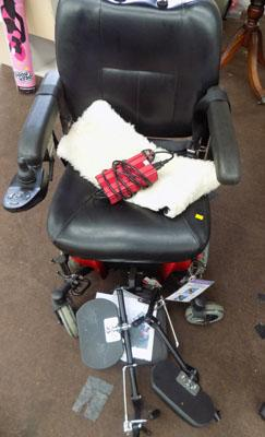 Pronto M41 Electric wheelchair inc additional extended footplates, battery charger & manual