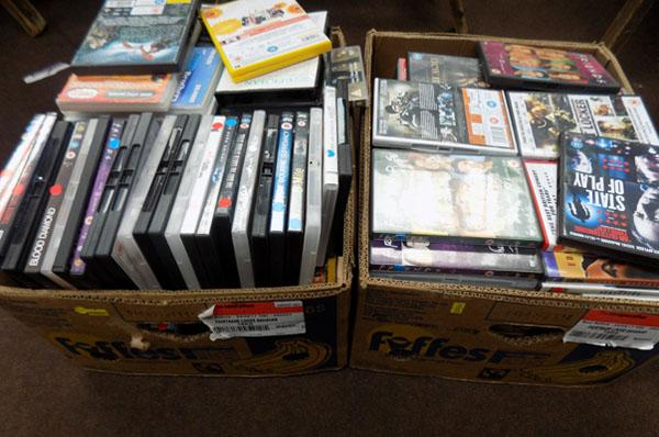 2x Boxes of DVD's & CD's