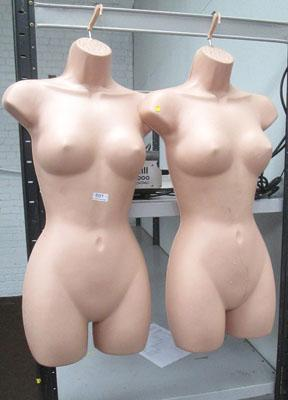 2x Female clothing mannequins/hanging stands