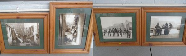 4x Photo's of Whitby-in frames