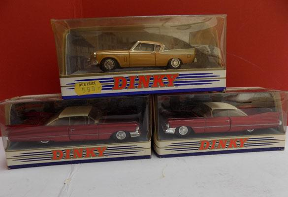 3 x vintage Dinky cars in boxes
