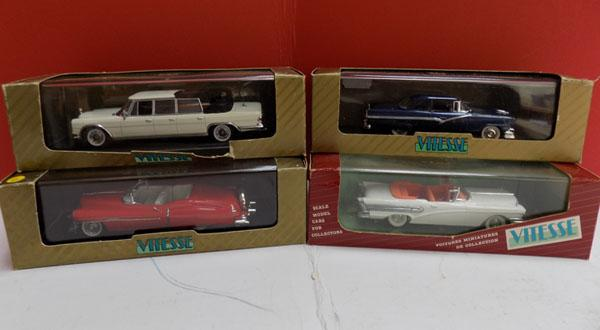 4 x vintage Vitesse cars in boxes
