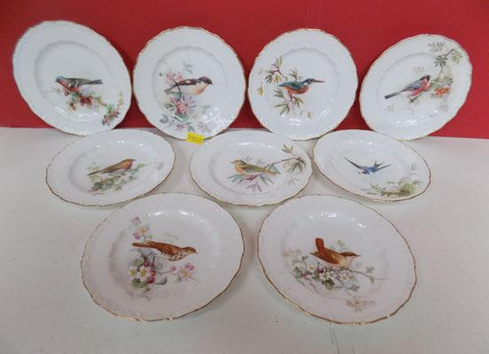 "Set of nine Royal Worcester Bird 5"" plates"