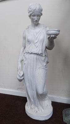 Concrete sculpture of a lady