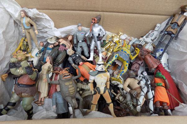 Large selection of vintage Kenner Star Wars figures