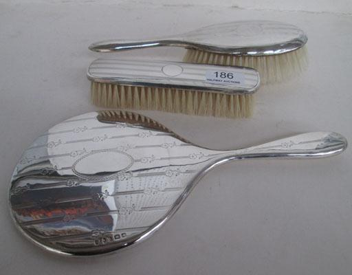 Solid silver hallmarked dressing table vanity set