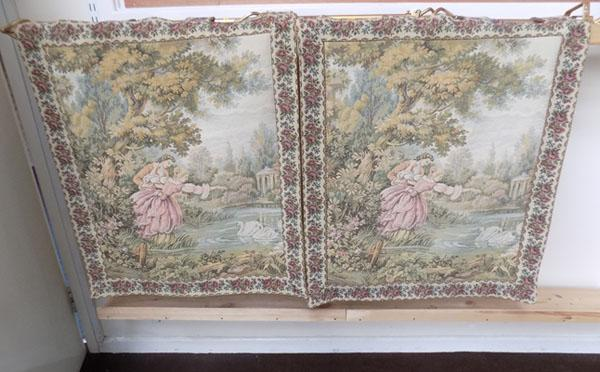Pair of vintage tapestries