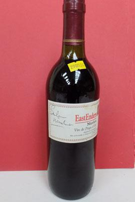 Bottle of Eastenders Merlot signed by Barbara Windsor