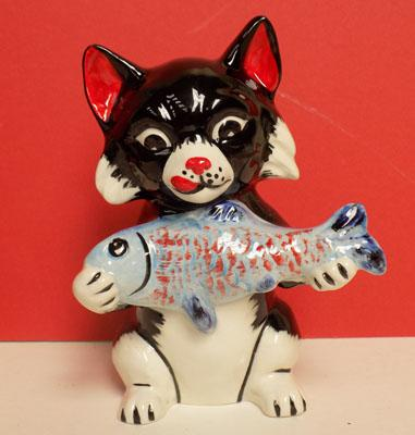 Lorna Bailey Cat with fish