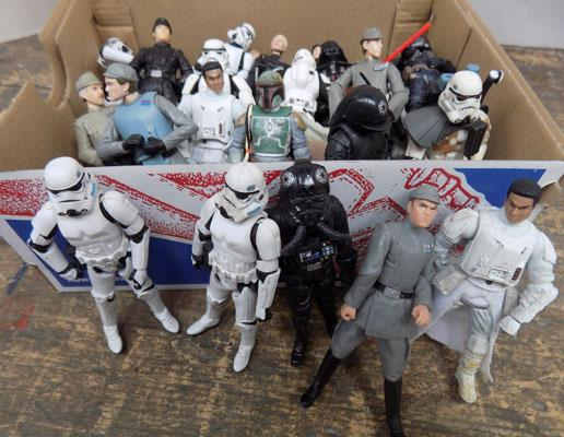 Large collection of Hasbro Star Wars figures-Villans