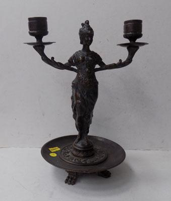 French Bronze candelabra signed F Souchal