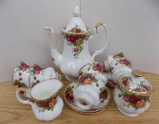 Royal Albert 'Old Country Rose' coffee set