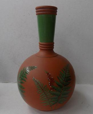 Antique Victorian terracotta Fern vase