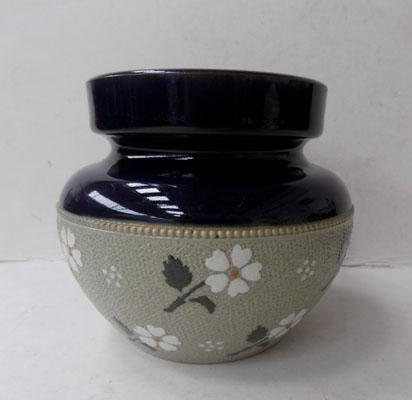 Antique Victorian Doulton tobacco jar