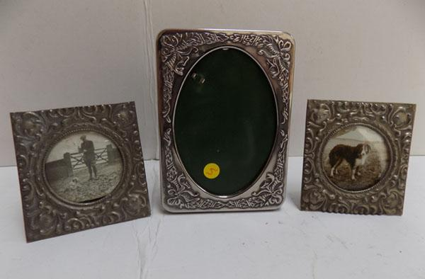 3 Vintage small photo frames