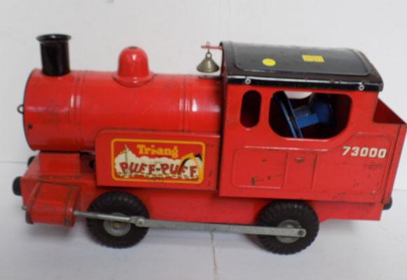 Tri-Ang 1950's pressed metal puff puff train