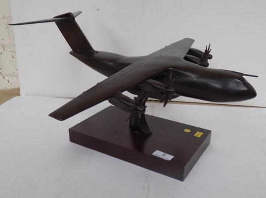 Bronzed resin RAF plane by Peter Hicks