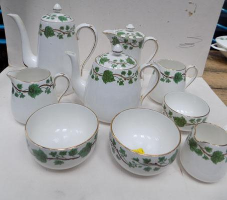 Queensbury Staffordshire tea and coffee pots and others