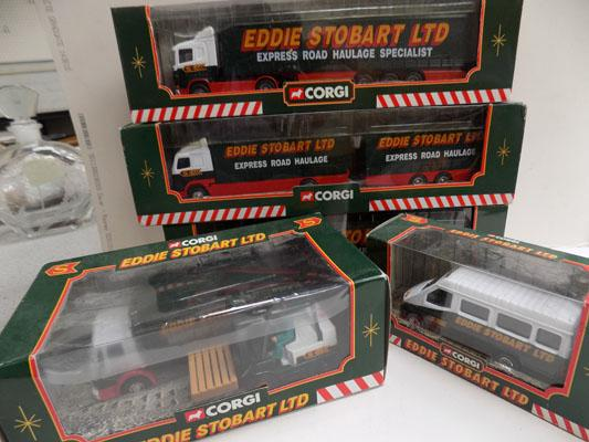 5x Coral Eddie Stobart truck collection-boxed