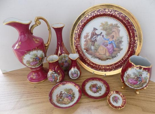 Collection of Limoges pieces