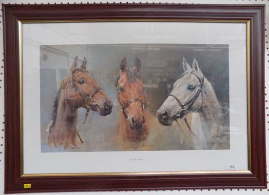Large 'We Three Kings' horse picture