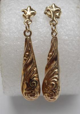 Pair of 9ct gold ear rings