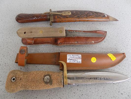 Divers knife & 2 others