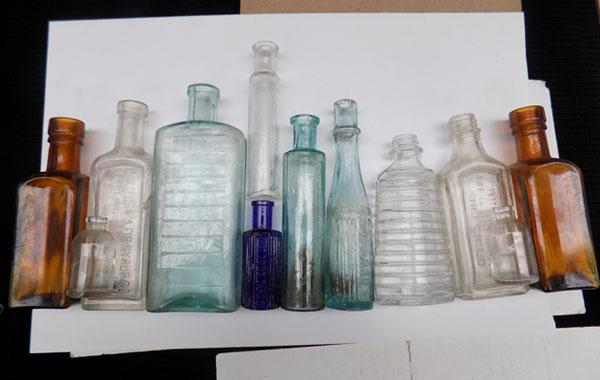 Selection of chemist bottles-good display items